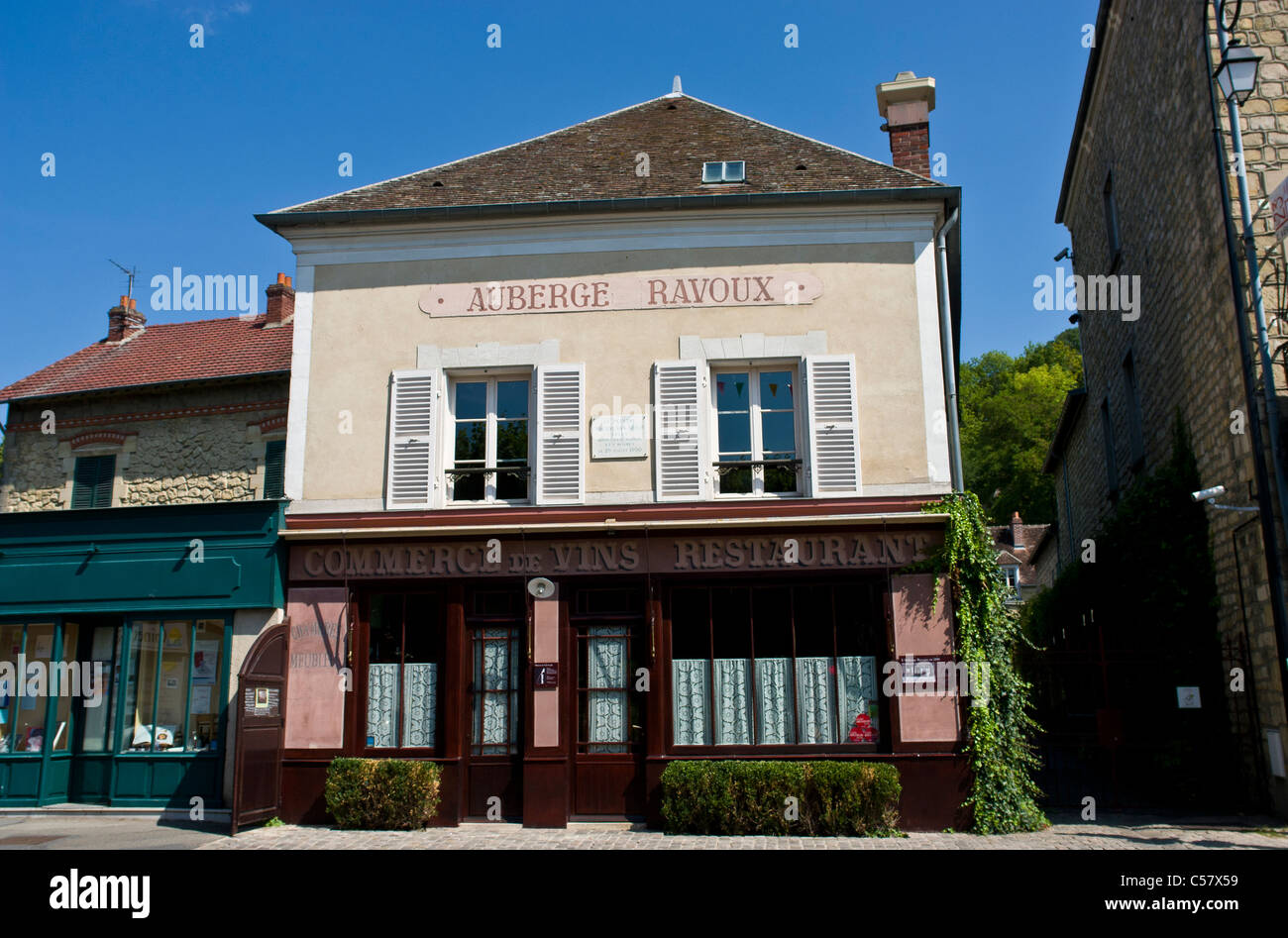 Auberge Ravoux, Auvers-sur-Oise, donde Vincent Van Gogh murió de una herida de bala autoinfligida en 1890, Francia Foto de stock