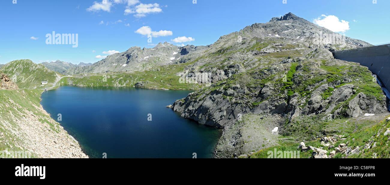 Suiza, Ticino, Val Lavizzara, Valmaggia, Laghetto Superiore, valle de Maggia, lago Foto de stock