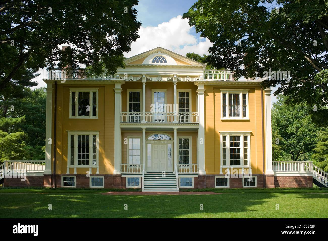 Boscobel restauración, edad dorada mansión en Cold Spring, Condado de Putnam, Hudson Valley, Estado de Imagen De Stock