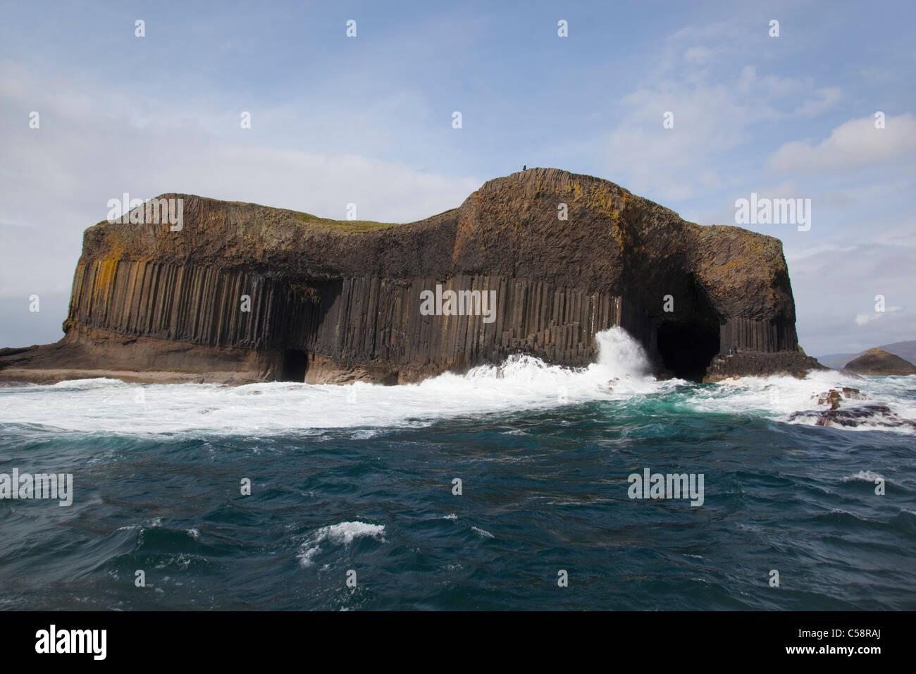 Staffa; Isla de un viaje en barco Imagen De Stock