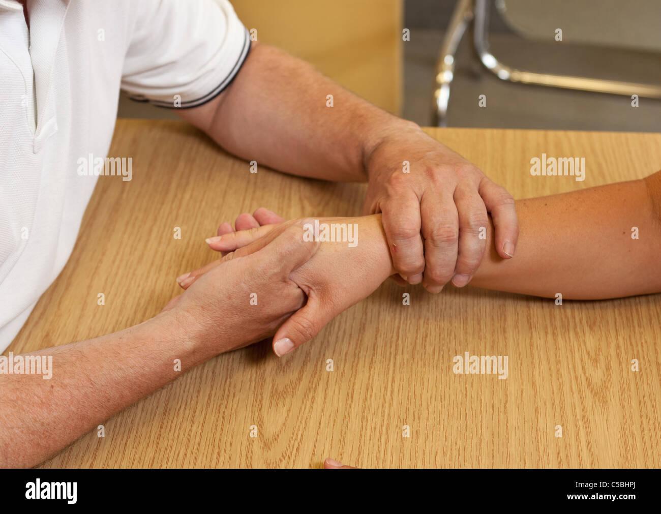 Terapia ocupacional de mano Imagen De Stock