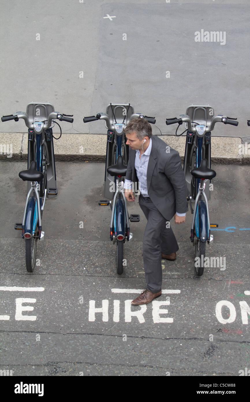 Barclays boris bikes, Londres ciclo régimen de alquiler Imagen De Stock