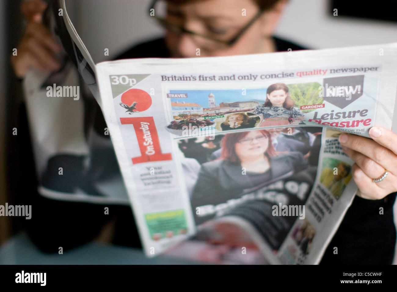 Yo papel prensa periódico independiente sábado Imagen De Stock