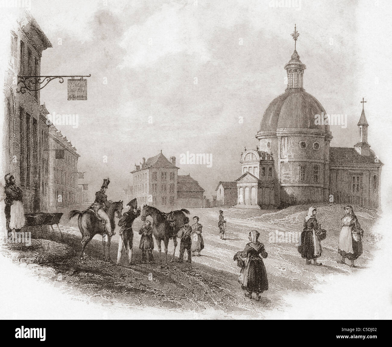 Waterloo, Brabante Valón, Bélgica en el siglo XIX. Imagen De Stock