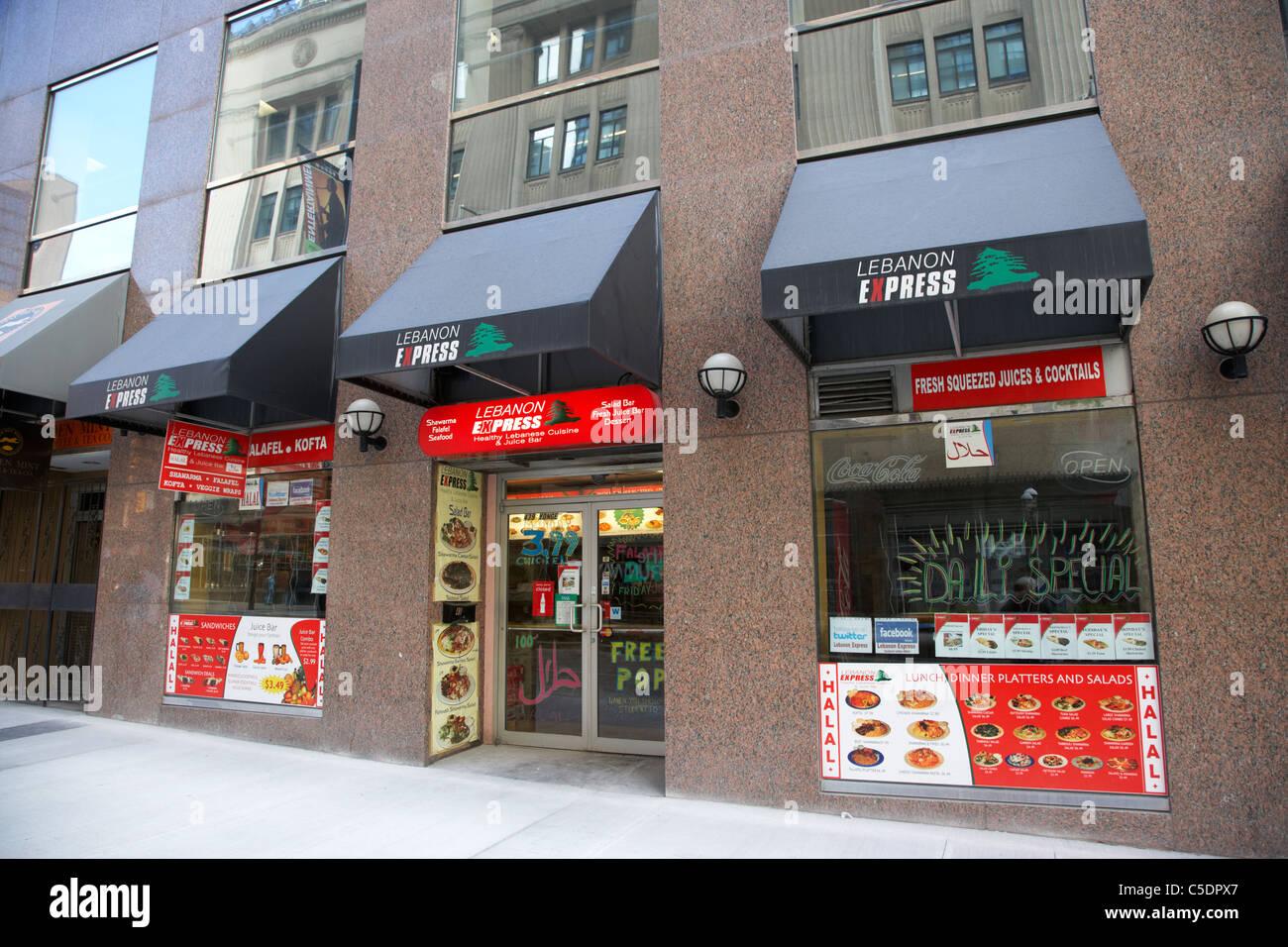 El líbano express Toronto Ontario Canada Imagen De Stock