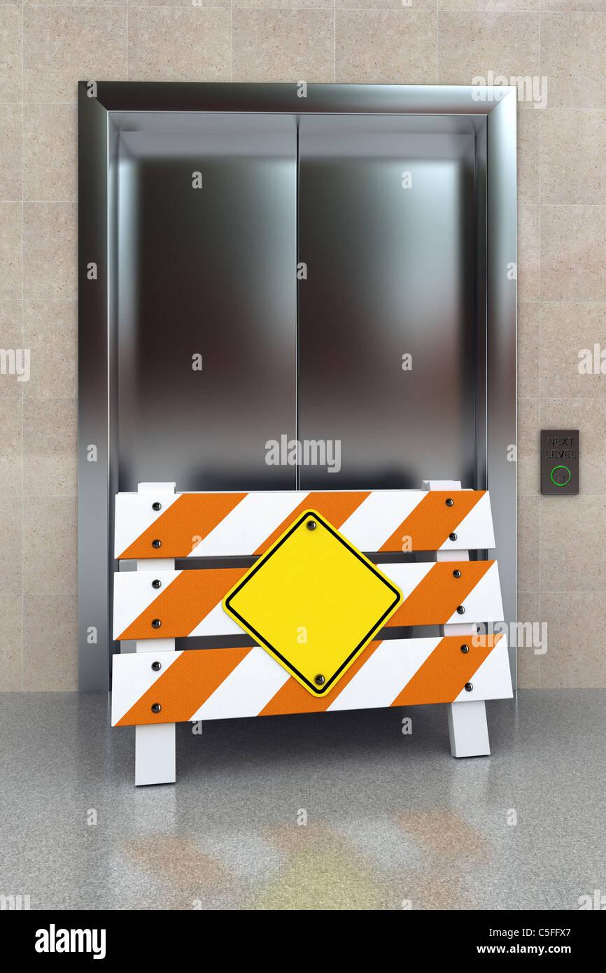 Concepto de elevador roto Imagen De Stock