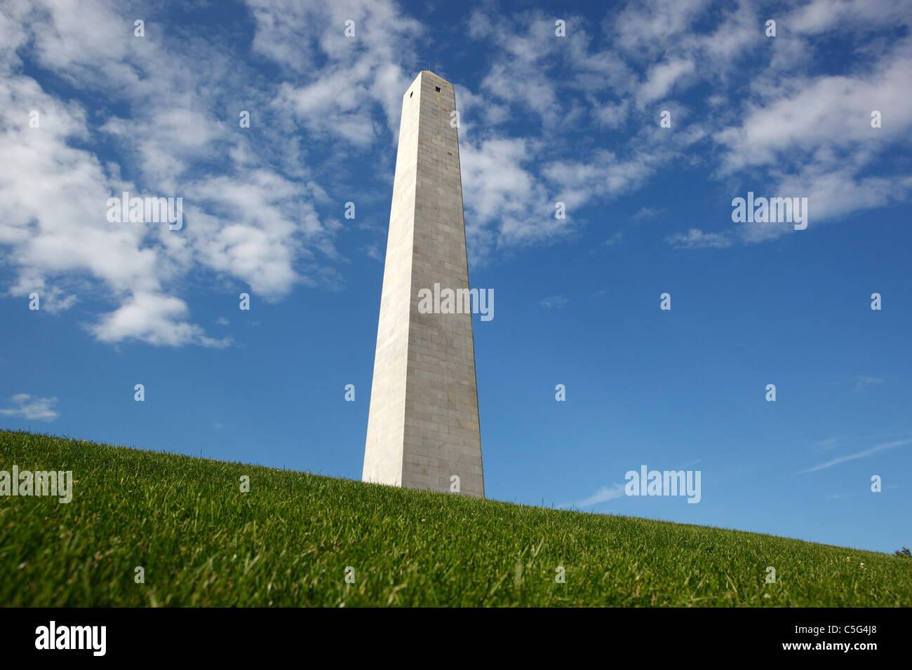 Bunker hill Monument, Boston, Massachusetts Imagen De Stock