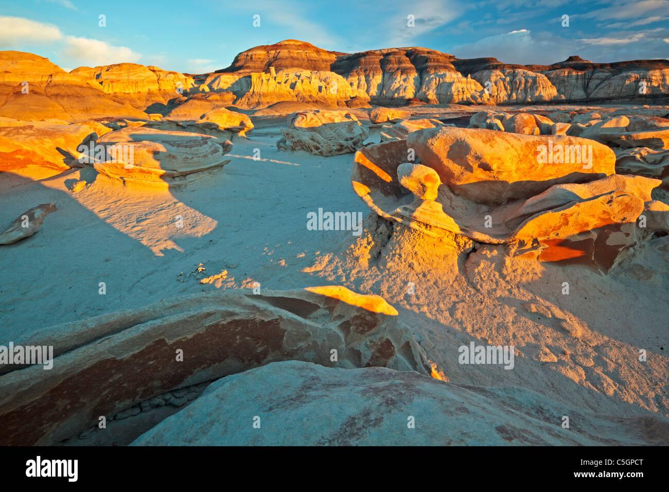 Bisti & de Na Zin Wilderness, Nuevo México, EE.UU. Imagen De Stock
