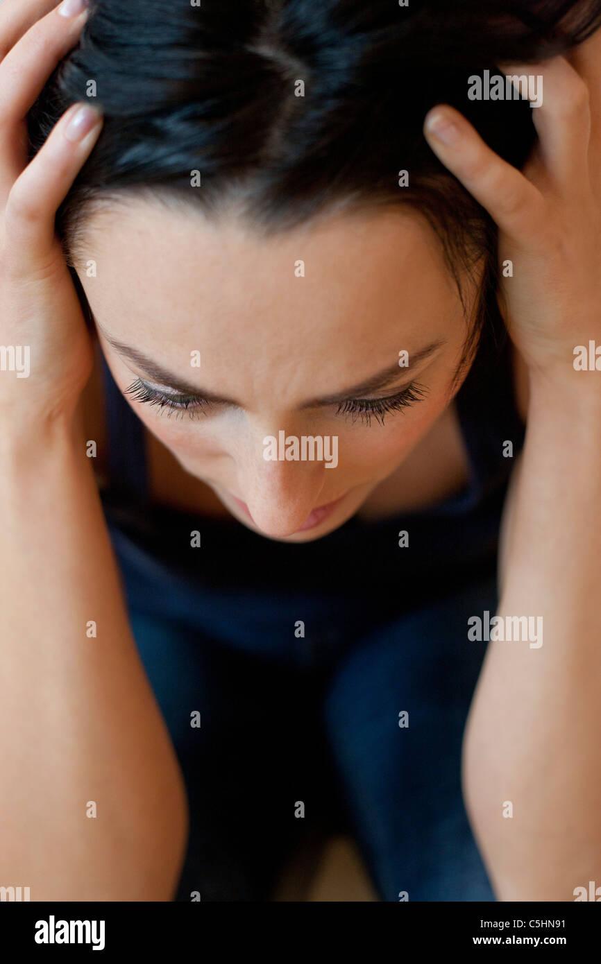 Mujer deprimida Imagen De Stock
