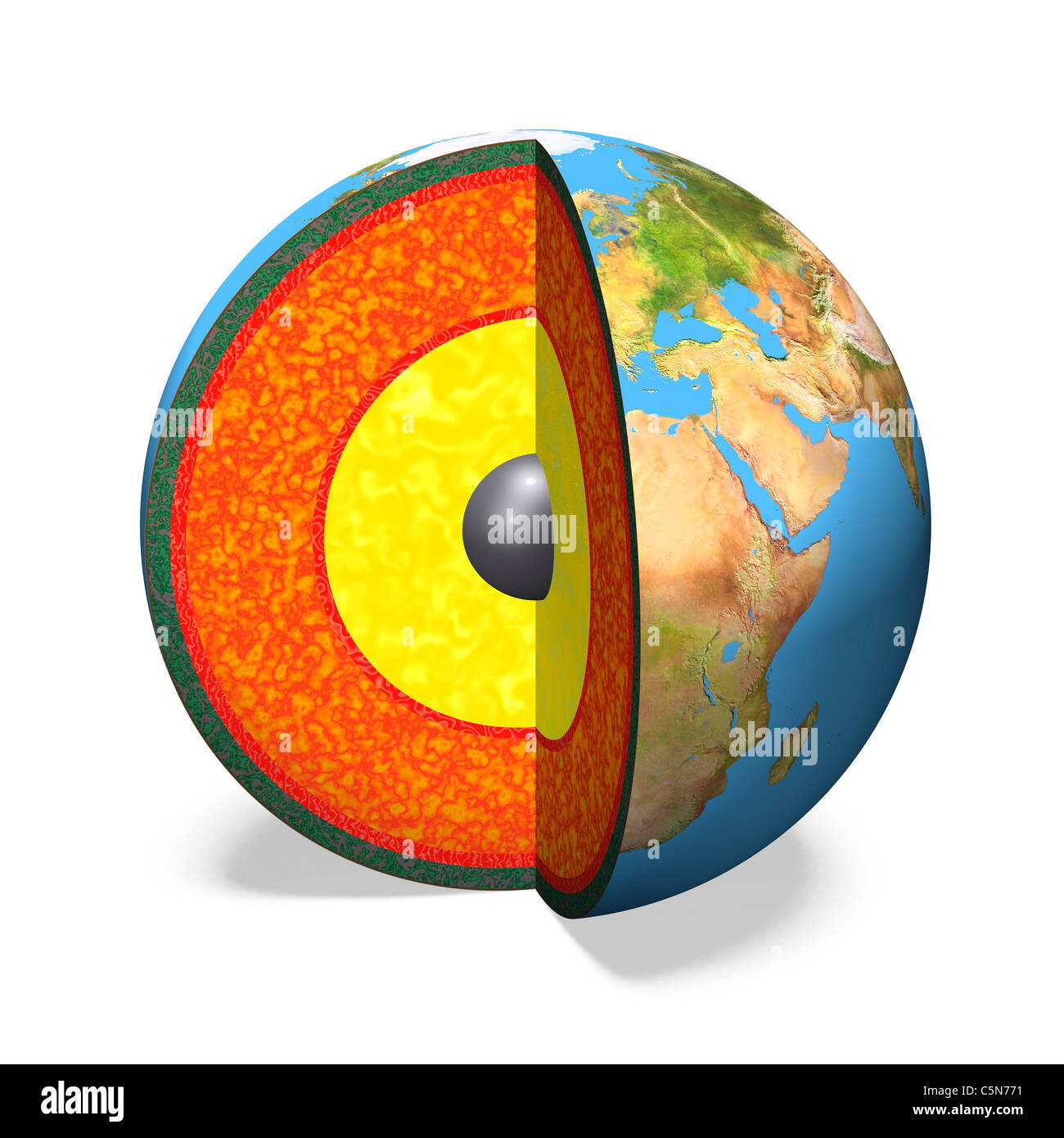 Estructura Interna De La Tierra Foto Imagen De Stock