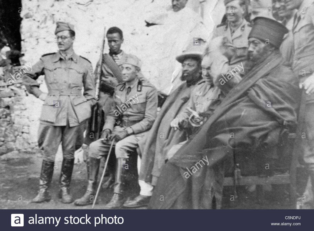 La invasión italiana de Abisinia, África, 1935 Imagen De Stock