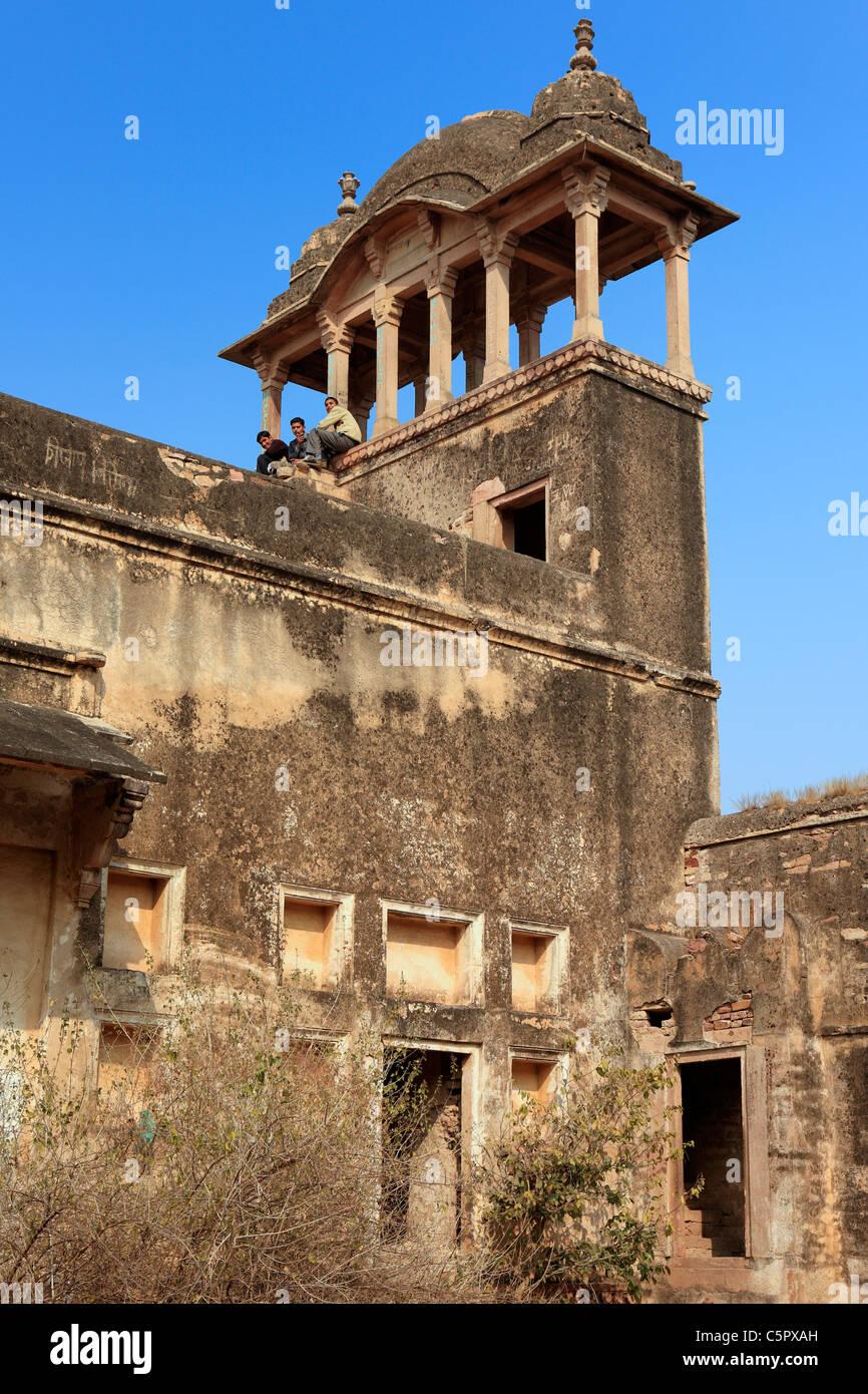 Fort, Jehangir mahal, Gwalior, India Foto de stock
