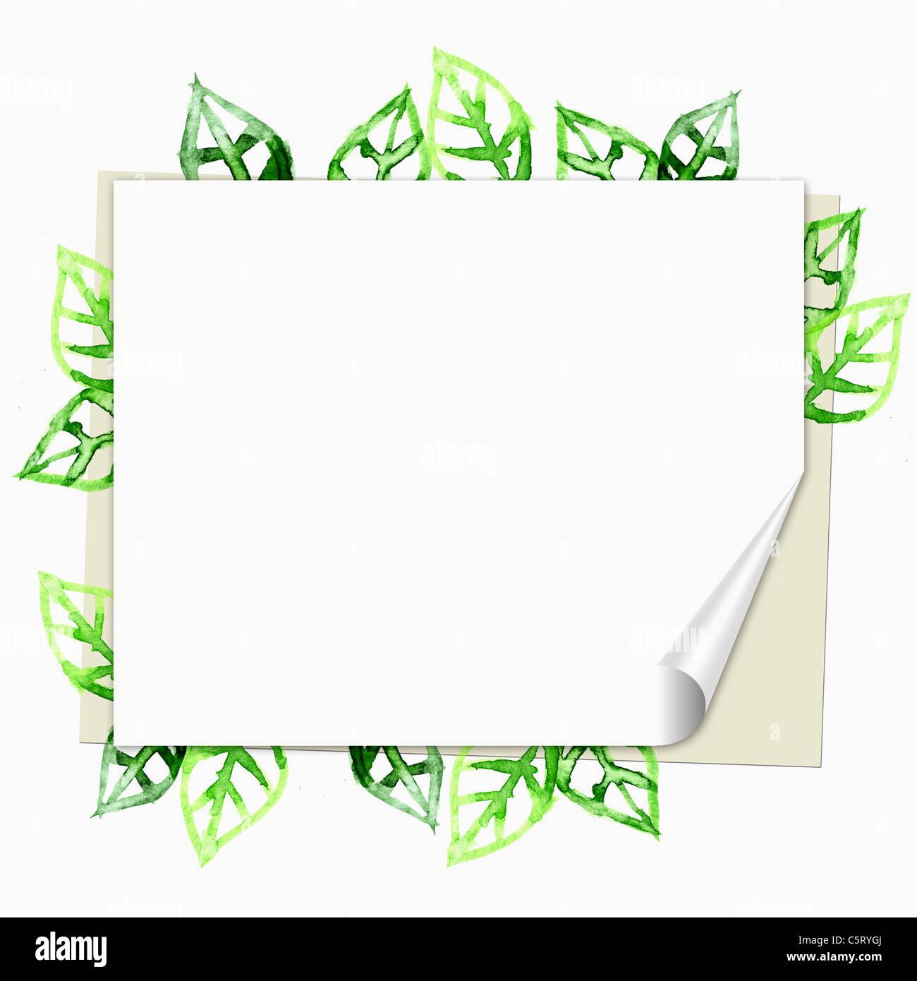 Marcos de hojas verdes Foto & Imagen De Stock: 38020546 - Alamy