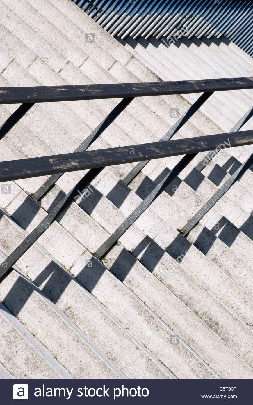 Alemania, Berlín, Casa de las Culturas del Mundo, la escalera, close-up Imagen De Stock