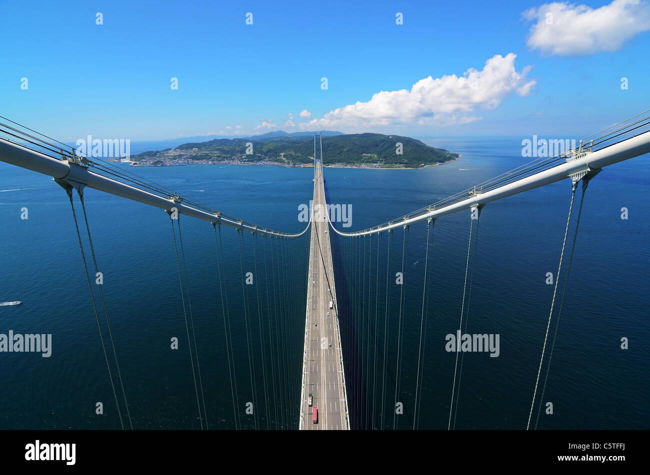 Kobe, Japón desde el puente. Foto de stock