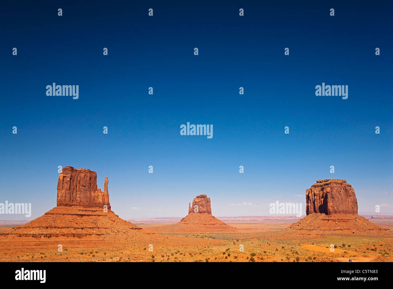 Ee.Uu., Arizona, Monument Valley Tribal Park, West Mitten Butte Imagen De Stock