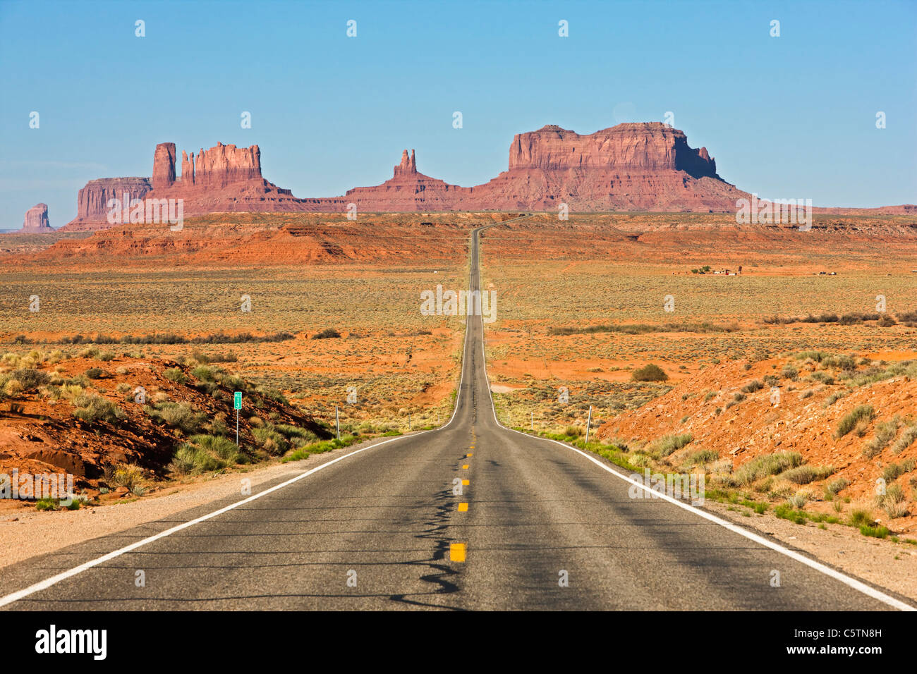 Estados Unidos, Utah, Monument Valley, Highway 163 Imagen De Stock