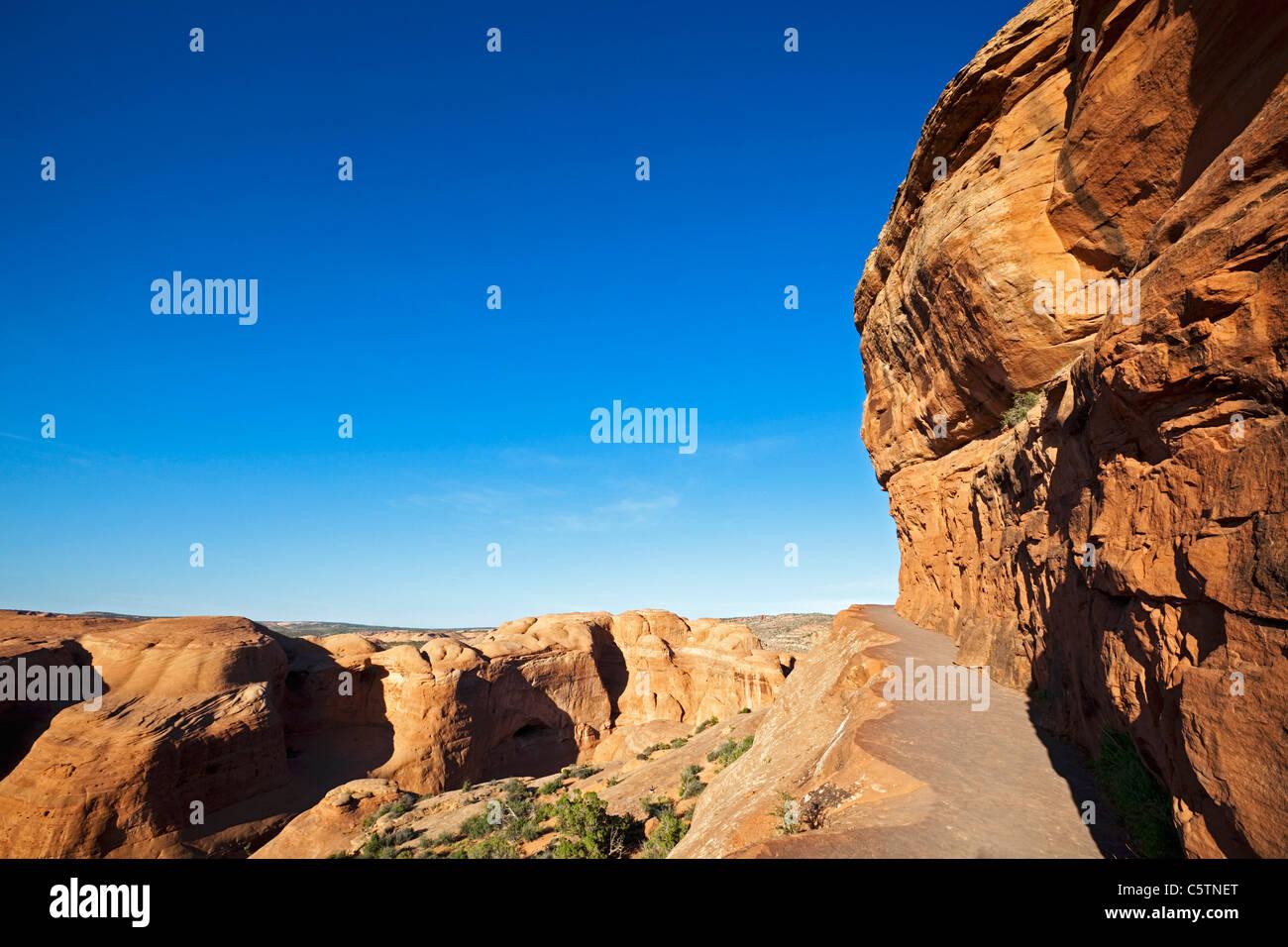 Estados Unidos, Utah, el Parque Nacional de Arches, Ruta al Delicado Arch Imagen De Stock