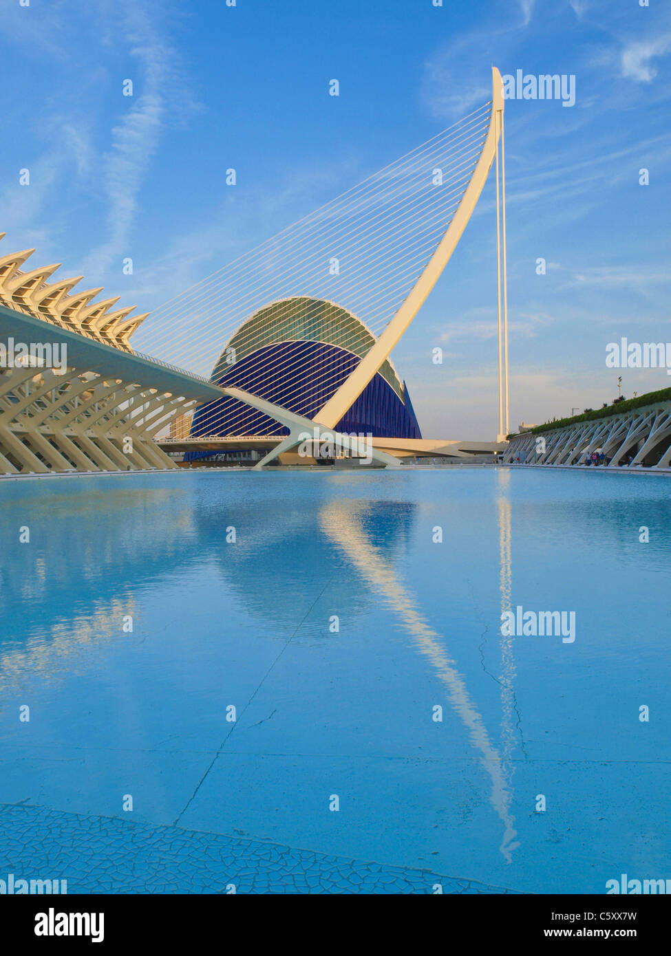 Valencia, Ciudad de las Artes y de las Ciencias, la ciudad de las artes y las ciencias, Santiago Calatrava, España Imagen De Stock