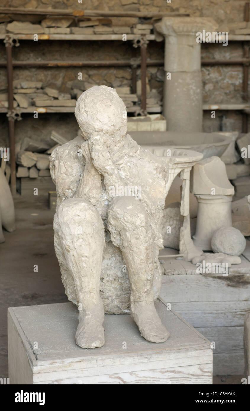 Pompeya víctima, yeso Imagen De Stock