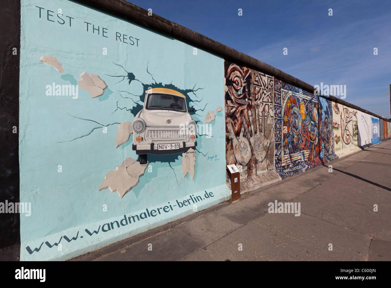Mural de Berlín, East Side Gallery, Berlin, Alemania Imagen De Stock