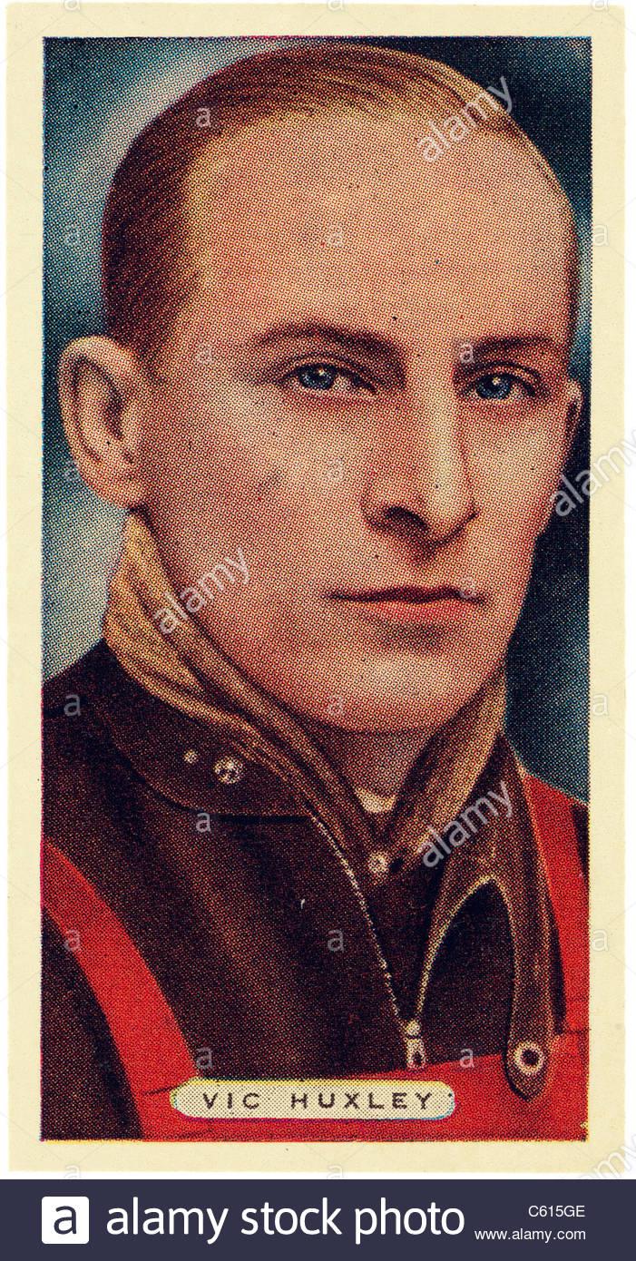 Victor Huxley Un australiano y speedway racing ESTRELLA estrella que ganó el Campeonato de Pilotos en 1931. Imagen De Stock