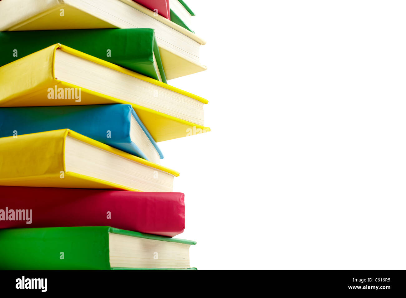 Pila de libros coloridos con copyspace para su texto Foto & Imagen ...