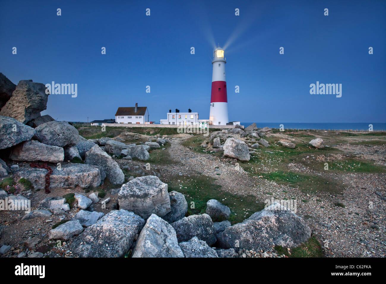 Faro de Portland Bill, Dorset. Imagen De Stock