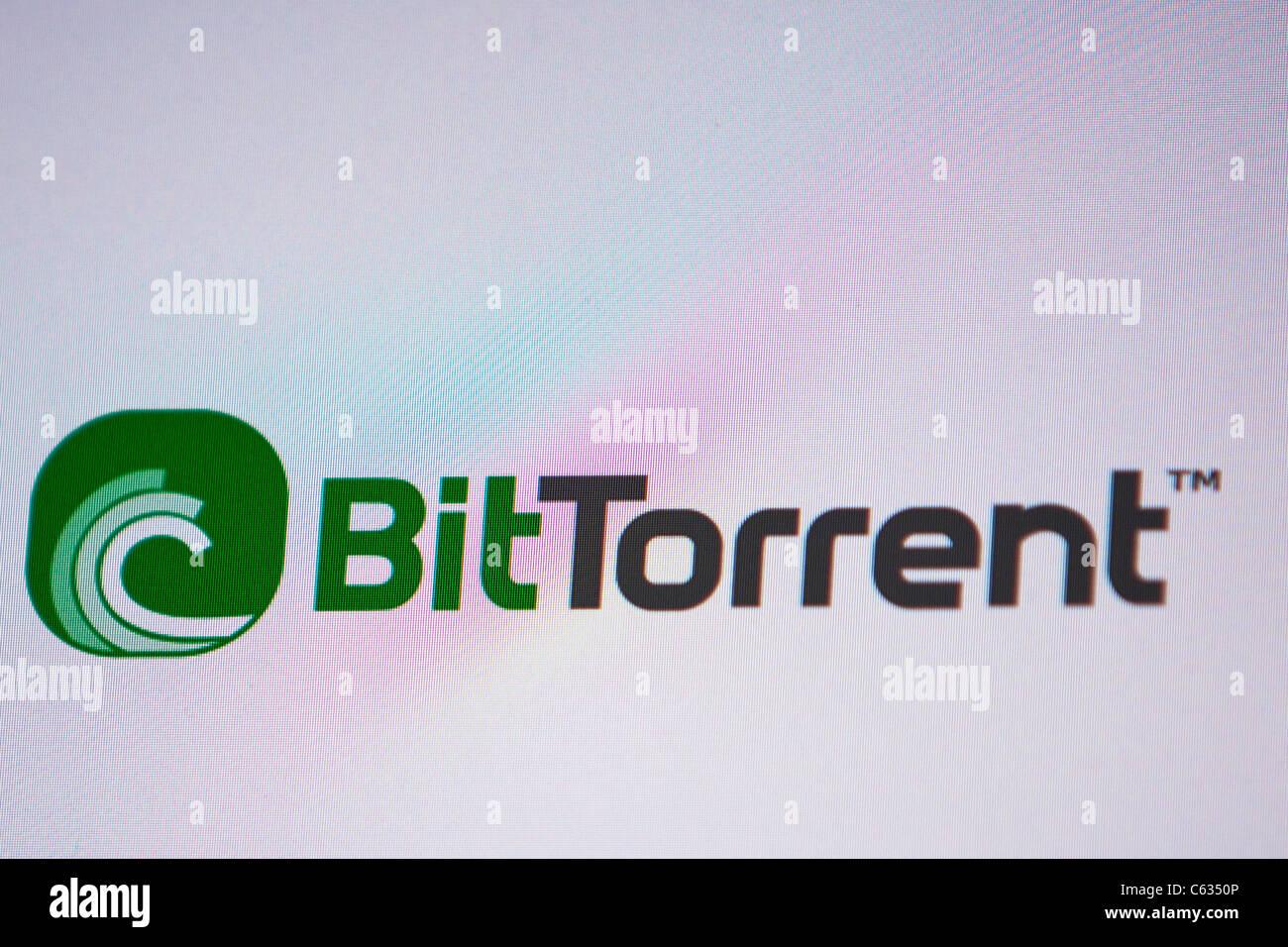 Logotipo de bit torrent sitio de descarga ilegal de imagen de alta resolución tomada desde una pantalla de Imagen De Stock