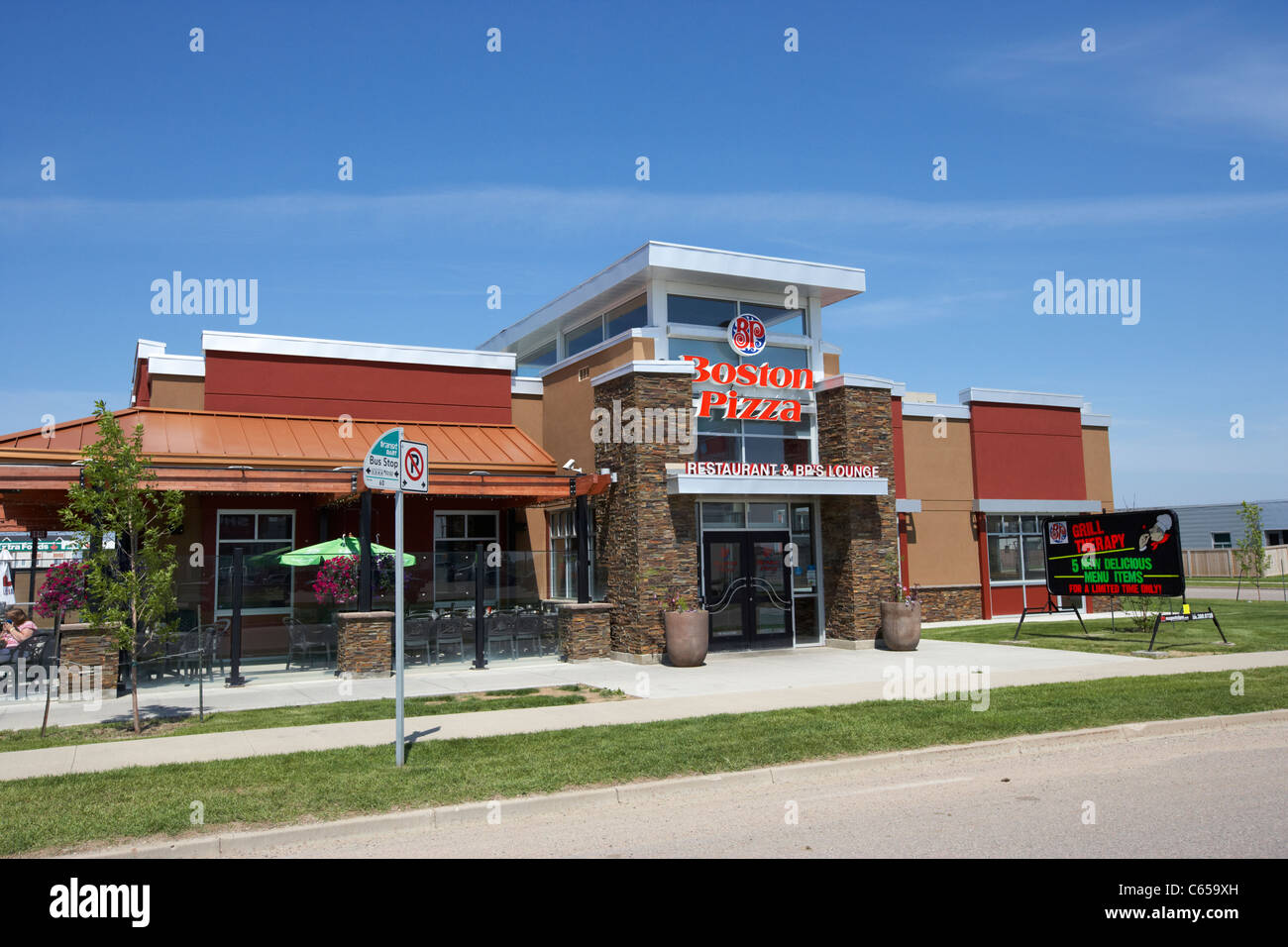 Boston Pizza cadena de restaurantes canadiense Saskatoon Saskatchewan Canadá Imagen De Stock