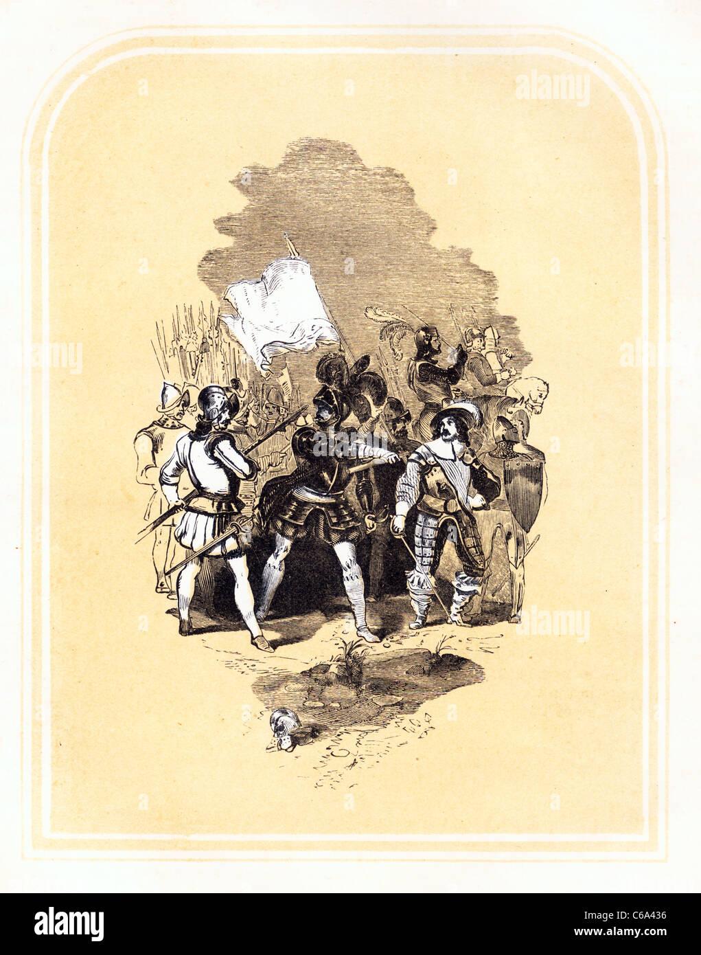 Emmanuel revisando su ejército de John Bunyan la Guerra Santa Imagen De Stock