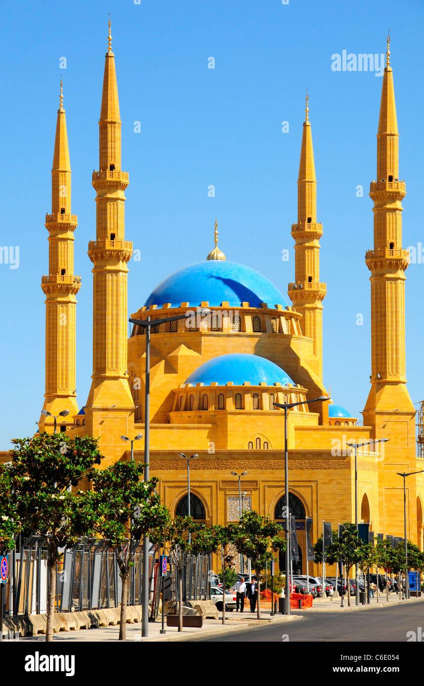 La mezquita de Mohammad Al Amin al mártir's Square. Beirut. El Líbano. Imagen De Stock