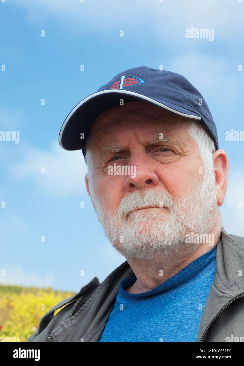 65-70 años Hombre Barbado. Foto de stock