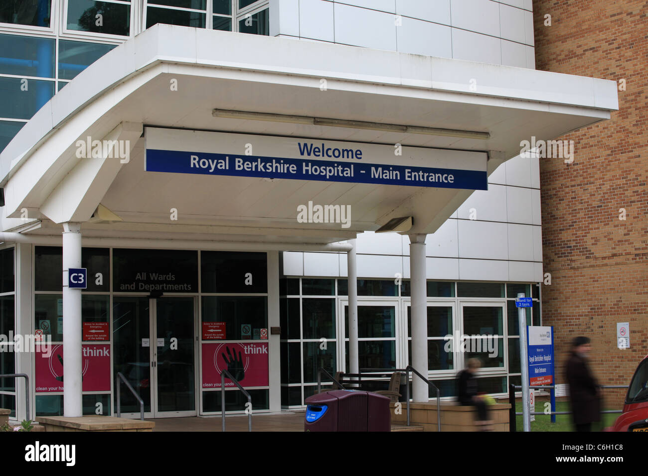 Royal Berkshire Hospital NHS Lectura entrada Imagen De Stock