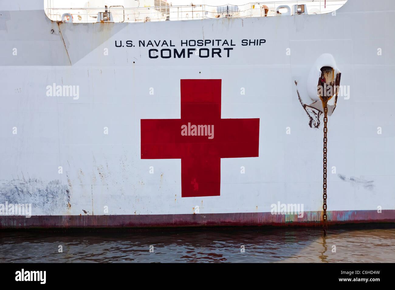 USNS Comfort, buque Hospital, San Salvador, El Salvador Imagen De Stock