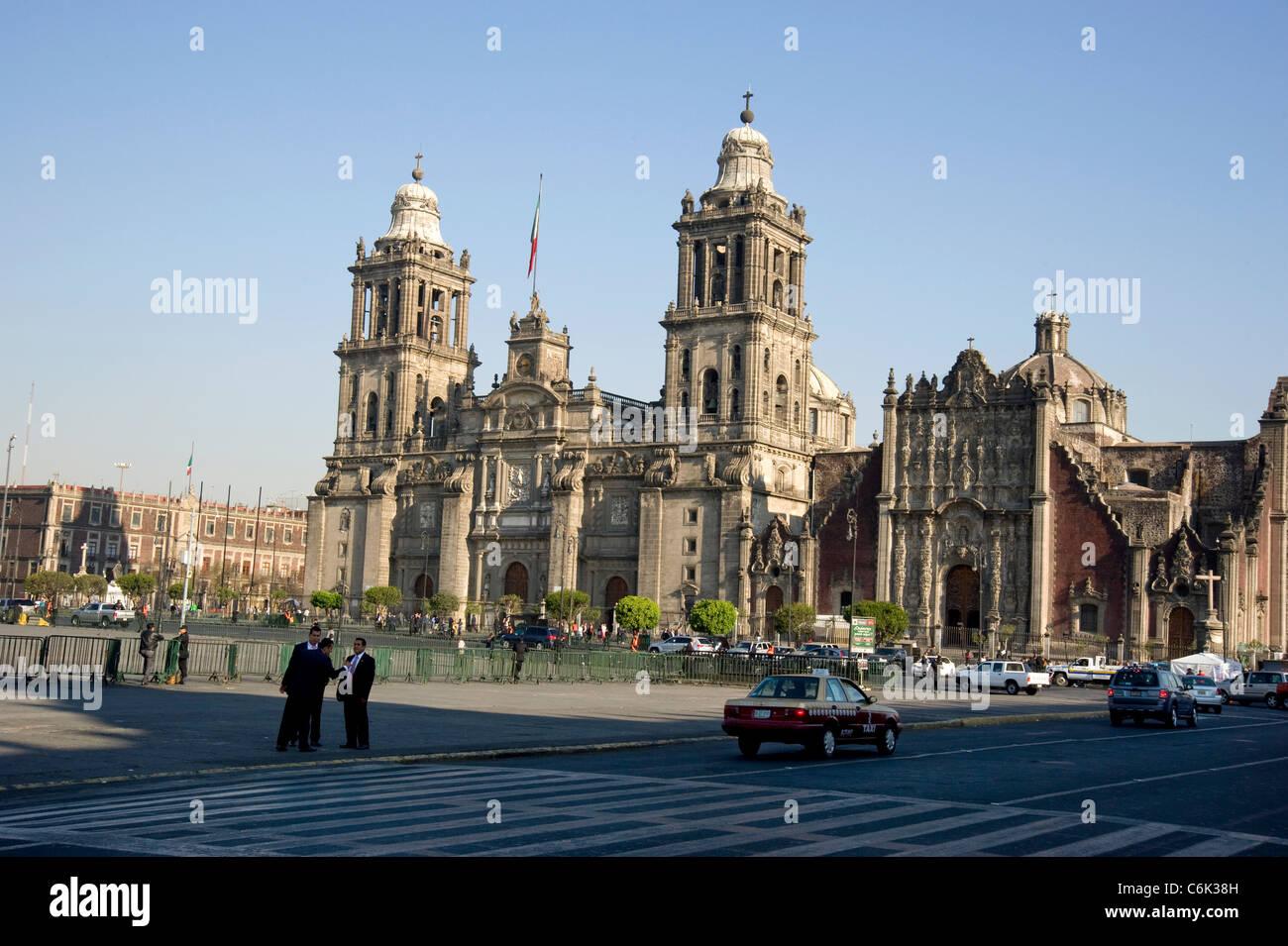 La histórica catedral metropolitana en Ciudad de México Imagen De Stock