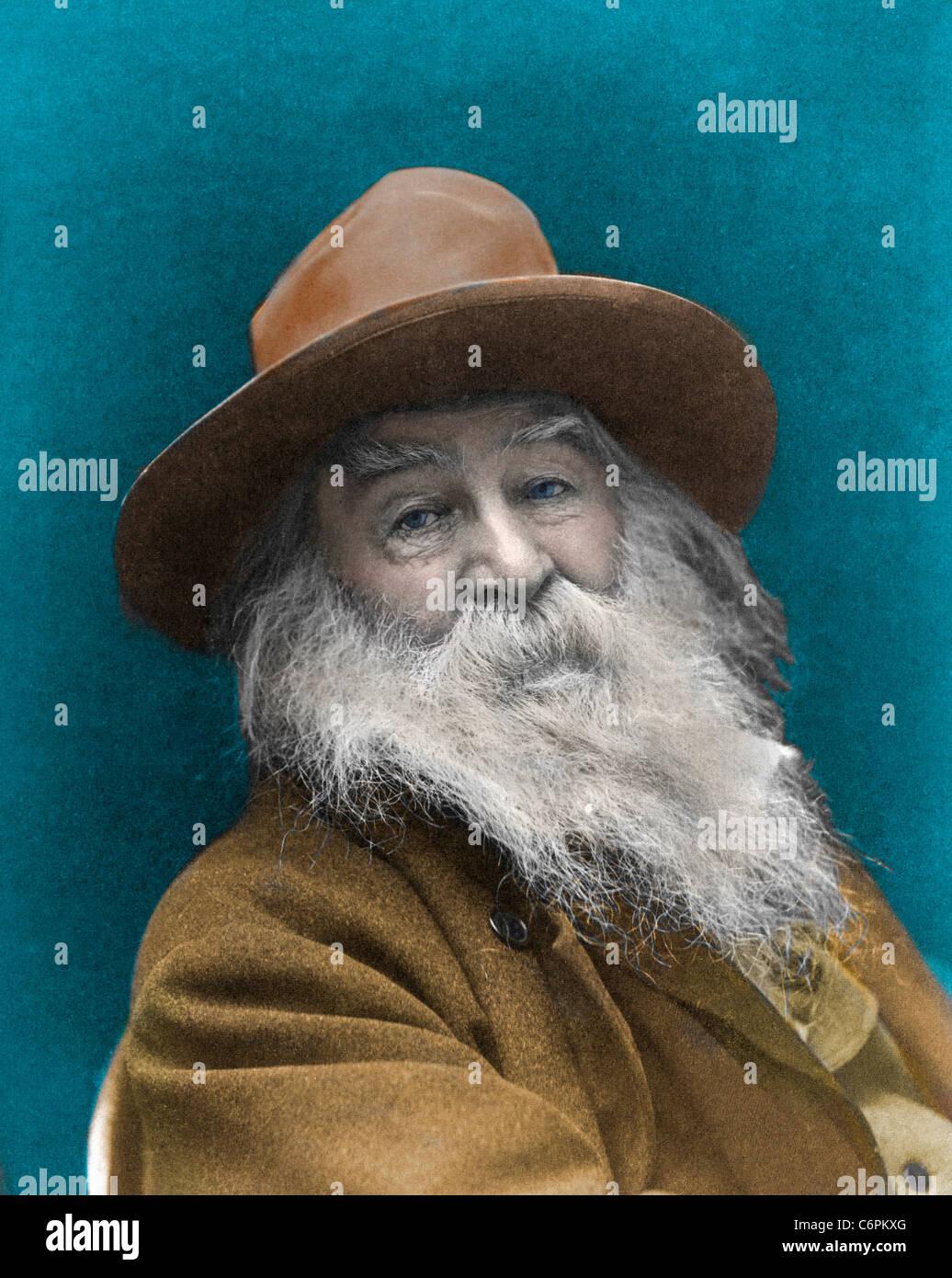 Walt Whitman (1819 - 1892), poeta norteamericano, circa 1887 Foto de stock