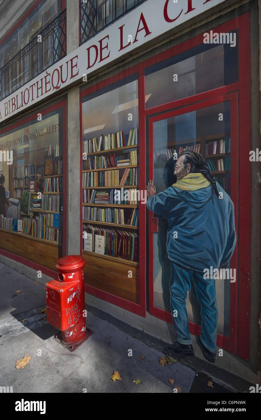 Lyon, Francia, trompe-l'oeil Imagen De Stock