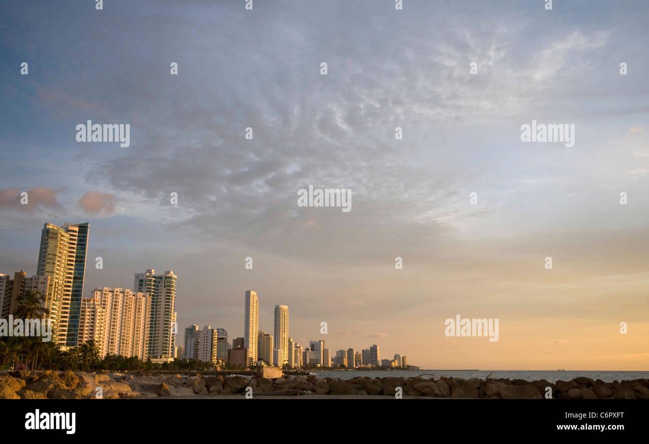 Vista de Bocagrande, Cartagena, Colombia Imagen De Stock