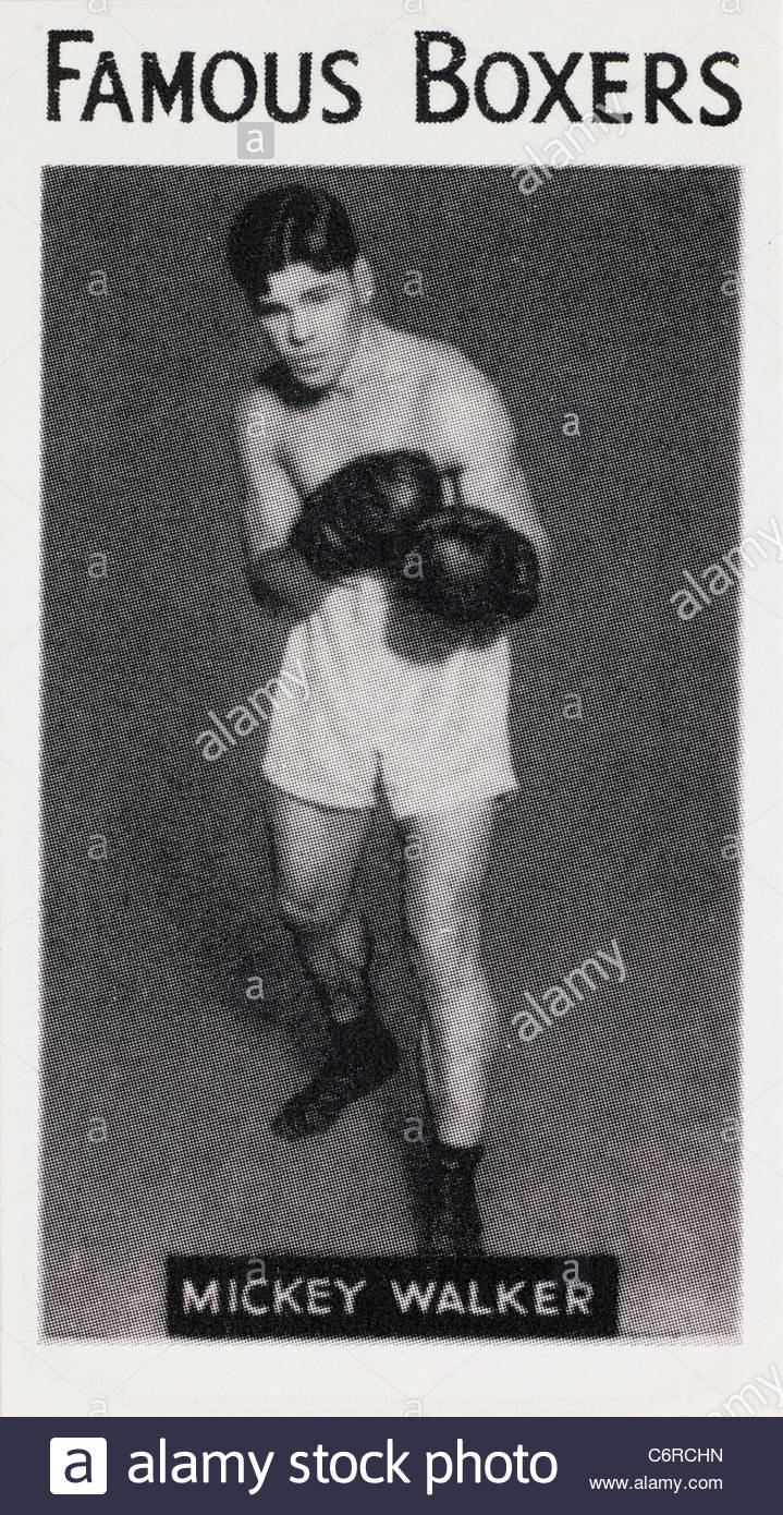 Famoso boxeador Mickey Walker WORLD HEAVYWEIGHT CHAMPIONSHIP de boxeador. Foto de stock