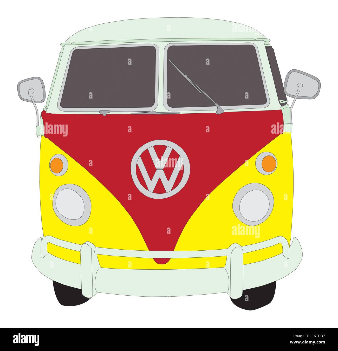 VW camioneta Volkswagen Foto de stock