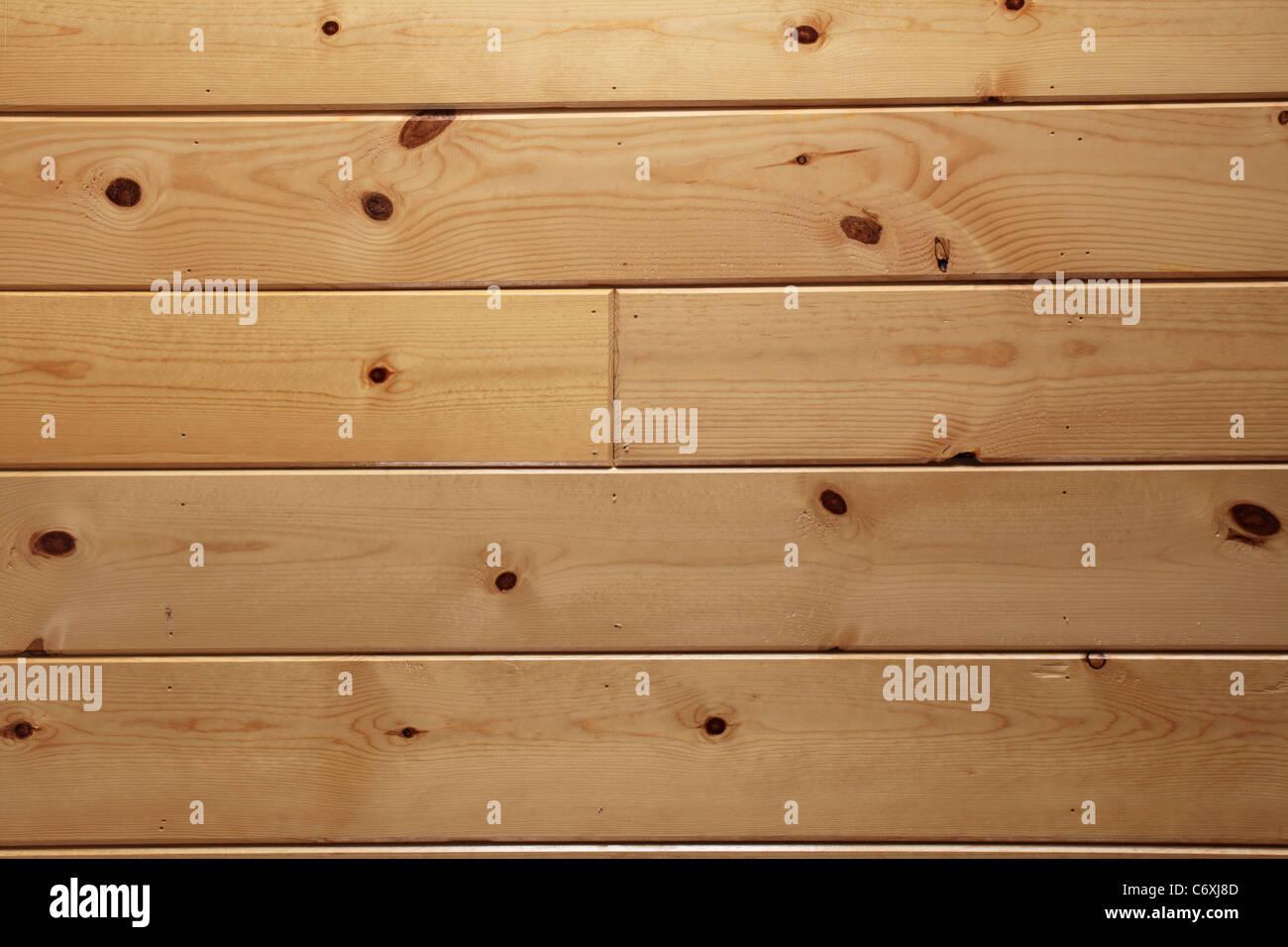 Nudoso panelado de madera barnizada textura de fondo Imagen De Stock