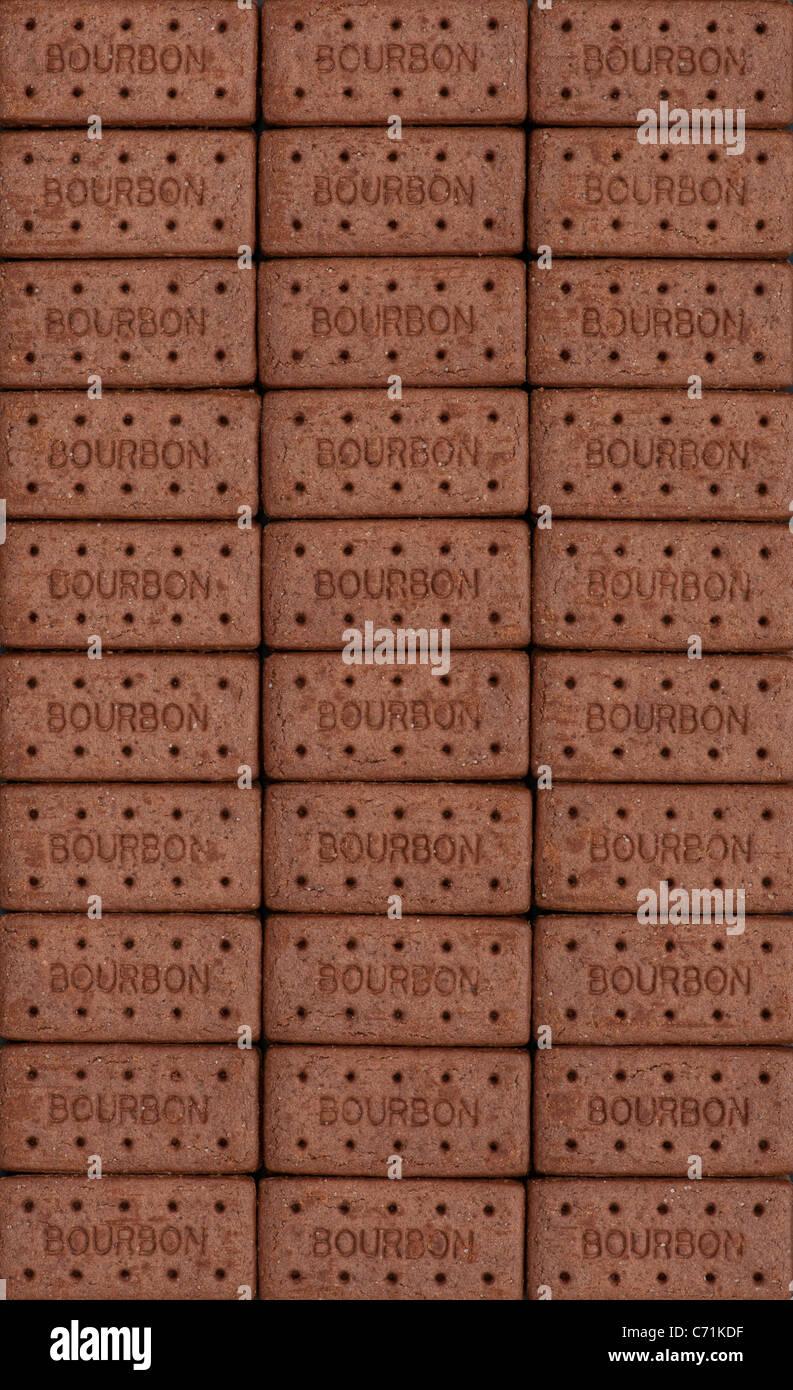 Chocolate galletas Bourbon patrón Imagen De Stock