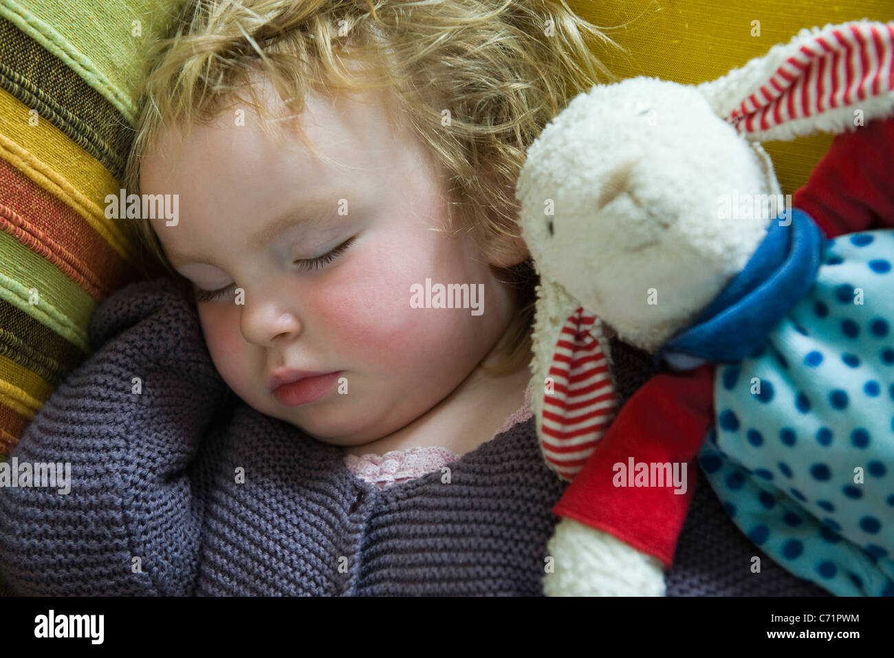 Baby Girl dormir Imagen De Stock