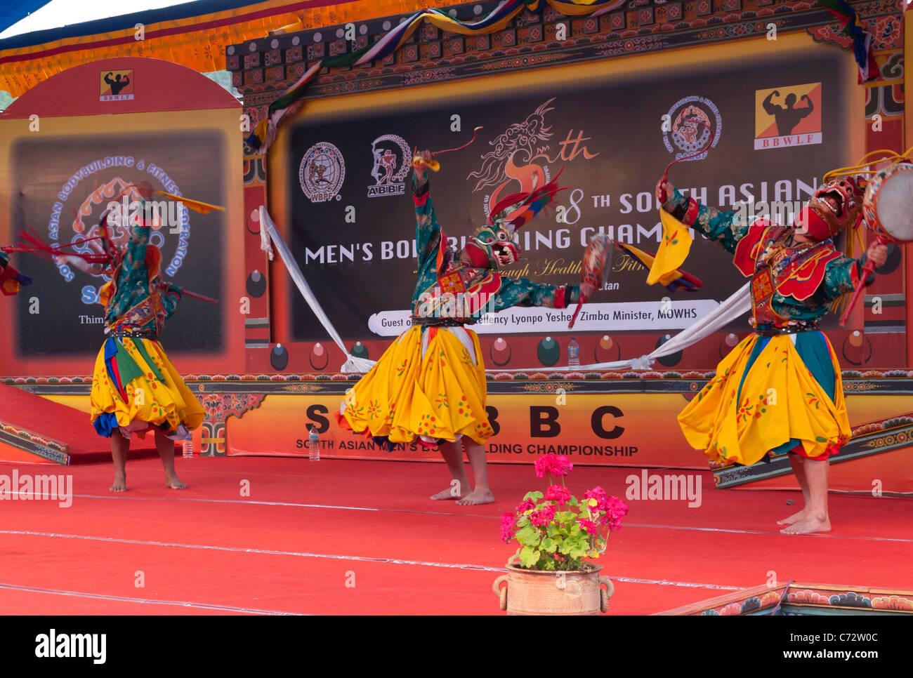 8Body building champshionship del sur de Asia. Thimpu. Bhután Imagen De Stock