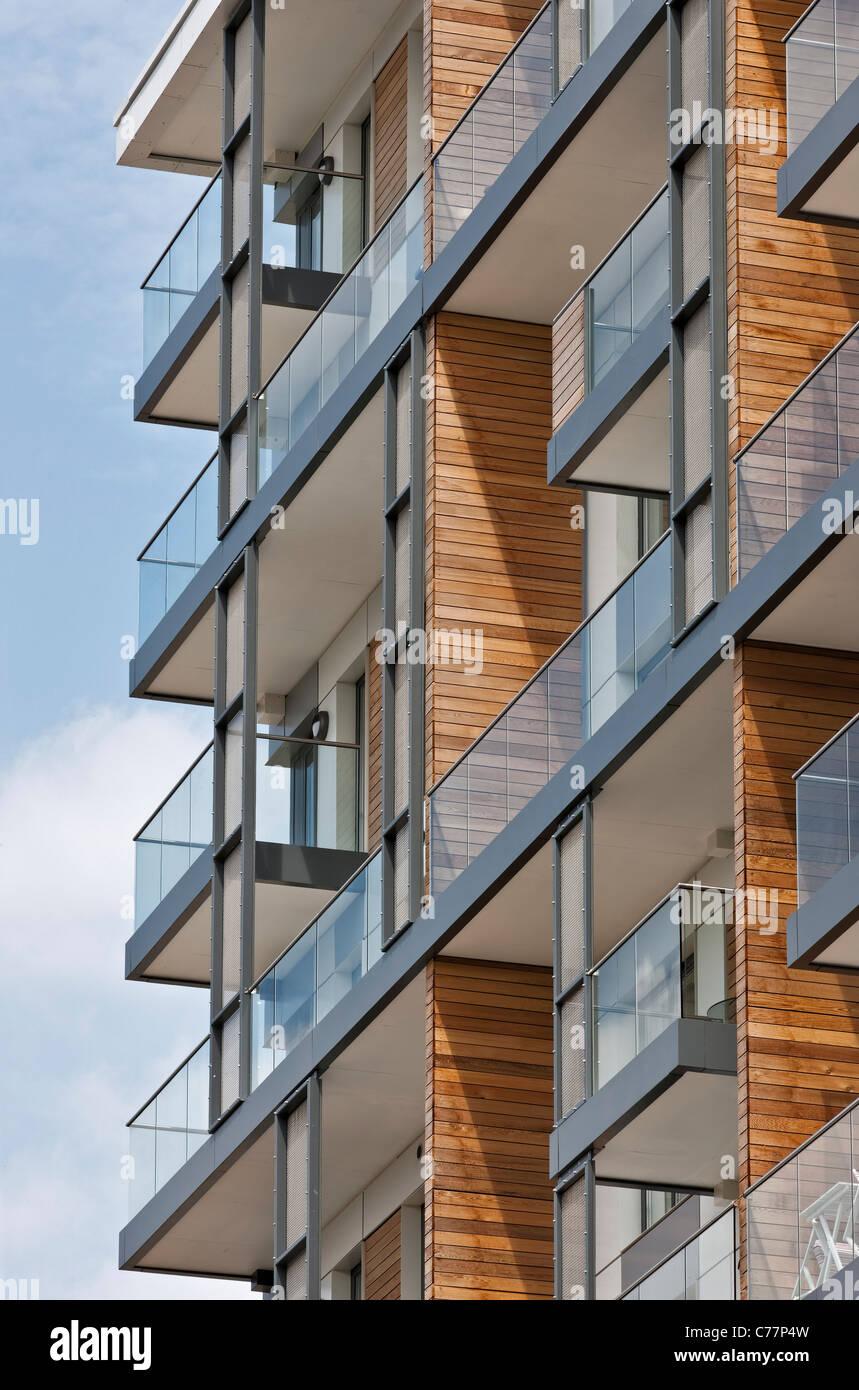 Apartamentos en Península de la ciudad de Greenwich, Londres. Imagen De Stock