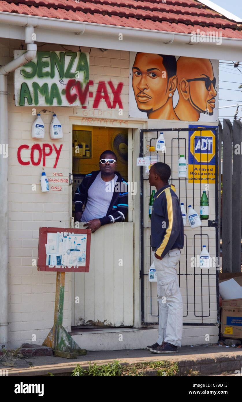Tienda a Amanzimtoti, KwaZulu-Natal, Sudáfrica. Imagen De Stock