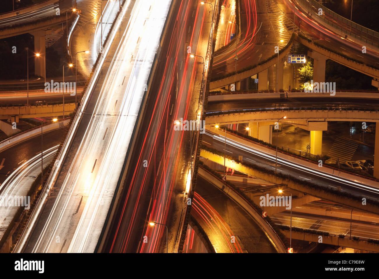 Alquiler de senderos en Yan'an Rd East Interchange; distrito de Luwan, Shanghai, China Foto de stock