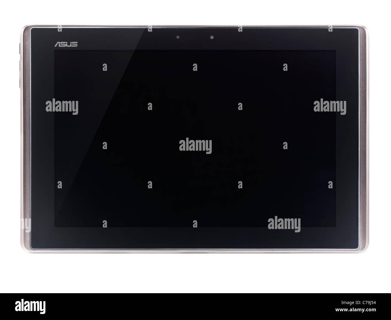 ASUS Eee Pad Transformer TF101 Android tablet pc aislado sobre fondo blanco con trazado de recorte Imagen De Stock