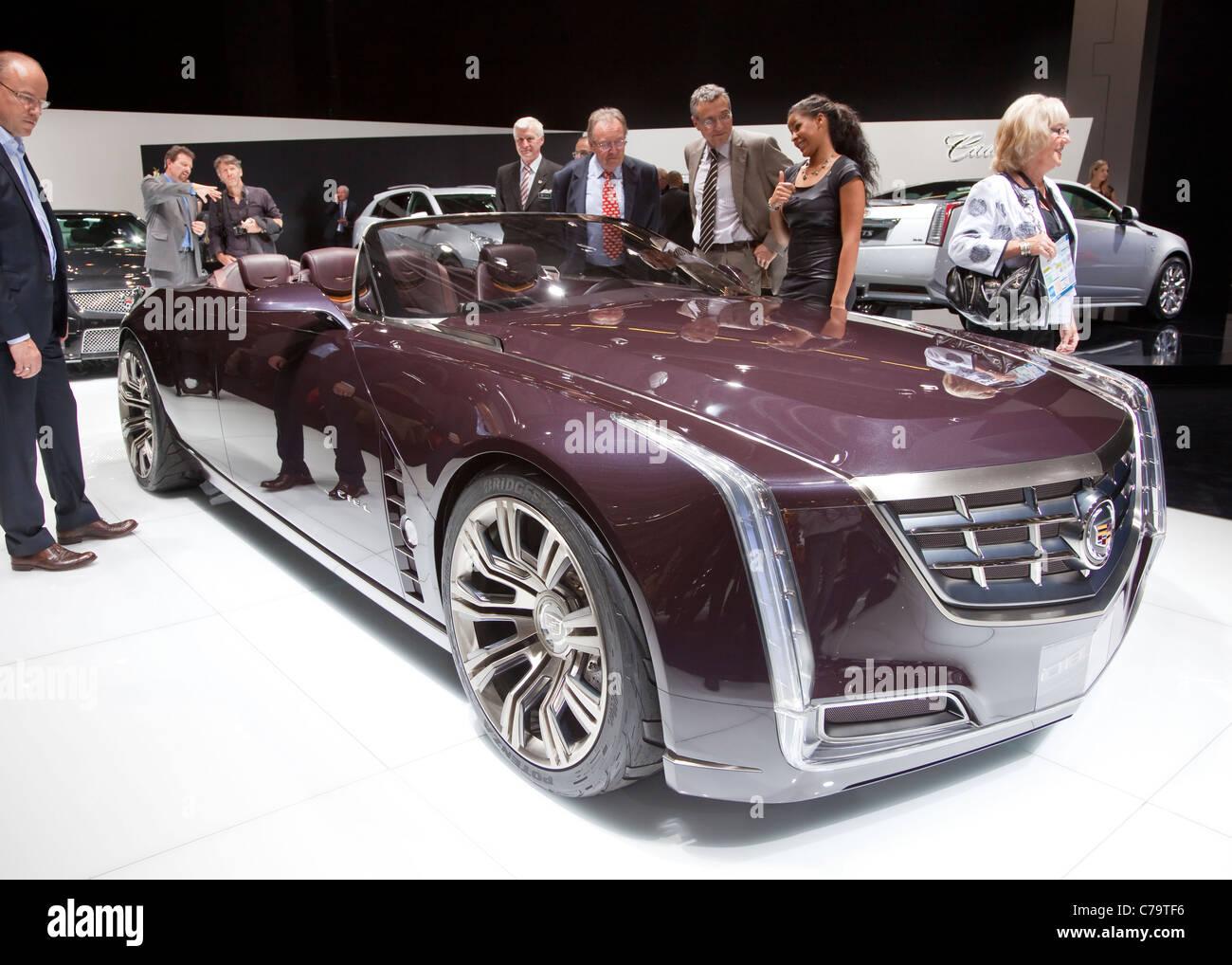 Nuevo Cadillac Ciel Concept Car en el IAA 2011 Salón Internacional del Automóvil de Frankfurt am Main, Imagen De Stock